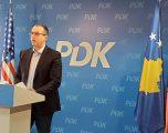 Gjoshi – PDK: Kryeministri i shkarkuar Albin Kurti e dorëzoi autoritetin shtetëror tek Serbia