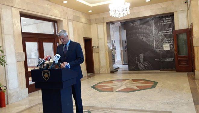 Thaçi: Vendimi se çka do të bëjmë tutje do të jetë në përputhje me vullnetin e partive dhe Kushtetutën