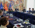 Liderët në Maqedoninë e Veriut në takim, do të diskutohet për datën e zgjedhjeve kuvendare