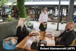 Një restorant në Shkup