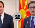 Kurti dhe Pendarovski në bisedë telefonike, diskutojnë mbi marrëdhëniet bilaterale
