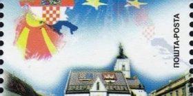 Shtyp pullë postare me hartën e Kroacisë së Ante Paveliqit