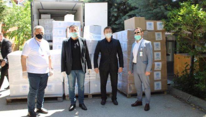 Gjilani pranon pako ushqimore e higjienike nga misioni i OKB'së
