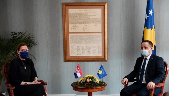 Driton Selmanaj ka pritur sot në takim Ambasadoren e Kroacisë në Kosovë, Danijela Barishiq