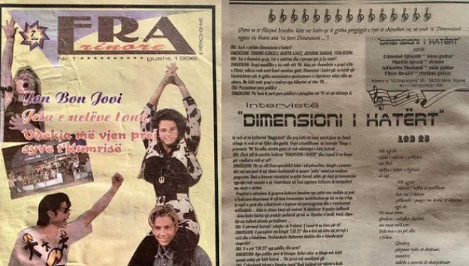 Rikujtim për Revistën ERA dhe rock grupin Dimensioni i Katërt