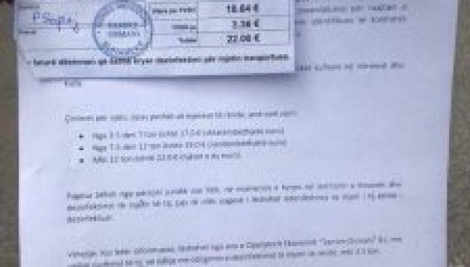 Edhe pse pa paralajmërim! Qeveria iu ka kërkuar bizneseve  nga 22 euro për dezinfektim në Vërmicë