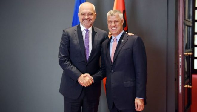 Presidenti Thaçi pret në takim Kryeministrin Rama
