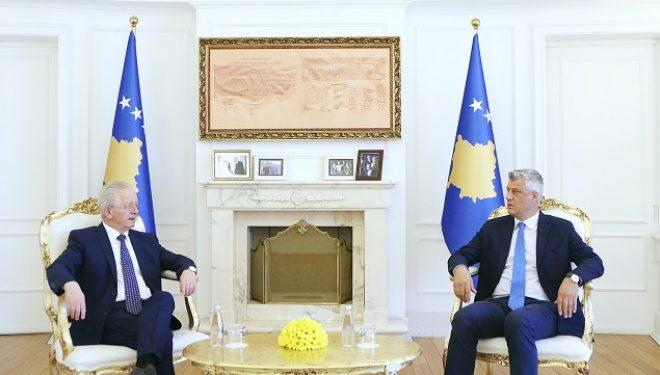 Thaçi priti në takim Koordinatorin për Dialog: Në Bruksel do të dialogohet vetëm për njohjen ndërshtetërore