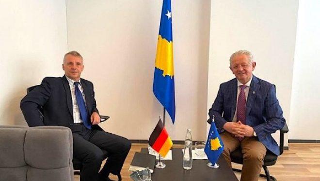 Hyseni i kërkon ambasadorit Rohde mbështetjen e mëtejme gjermane për dialogun