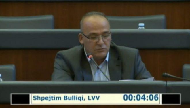 Shpejtim Bulliqi flet në Kuvendin e Kosovës si fitues i zgjedhjeve në Podujevë