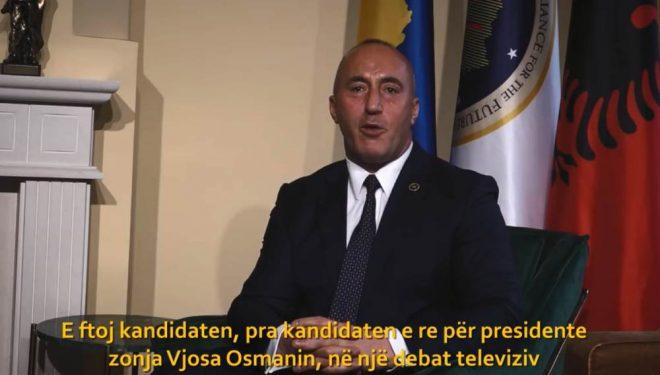 Ramush Haradinaj fton në debat Vjosa Osmanin