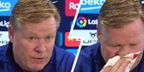 Hunda me gjak, trajneri i Barcelonës ndal konferencën (Video)