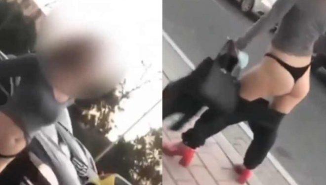 """""""Çmendet"""" e reja, heq pantallonat në mes të Tiranës dhe fton kalimtarët t'i shohin hiret (Video)"""