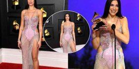 Mahniti të gjithë me dukjen unike në 'Grammys', Donatella Versace zbulon se punoi 1500 orë për fustanin e Dua Lipës