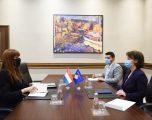 Ministrja Gërvalla takoi të ngarkuarën me punë në Ambasadën e Luksemburgut