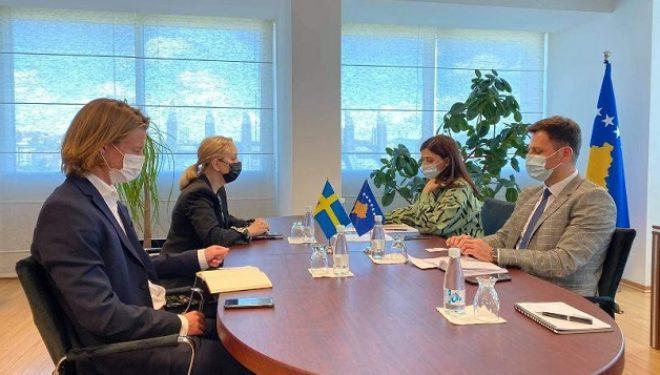 Ministrja e Drejtësisë priti në takim Ambasadoren e Suedisë në Kosovë