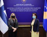 Ministrja Gërvalla priti në takim ambasadoren e Finlandës, diskutojnë për bashkëpunim