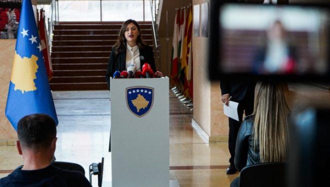 Ministrja Haxhiu raporton para deputetëve të Komisionit për Integrime Evropiane