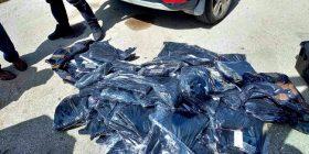 Policia ndalon kontrabandën në Jarinje – gjenden 86 palë pantallona në një autobus