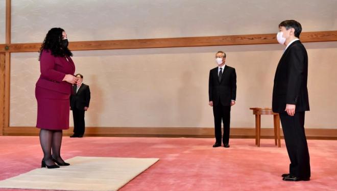 Osmani pritet nga Perandori i Japonisë, Naruhito