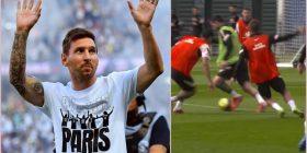 Messi edhe në stërvitje i huton bashkëlojtarët me lëvizjet e tij