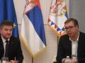 Vuçiqi pas takimit me Lajçakun: Do ta informoj publikun për gjithça që po ndodh në Kosovë