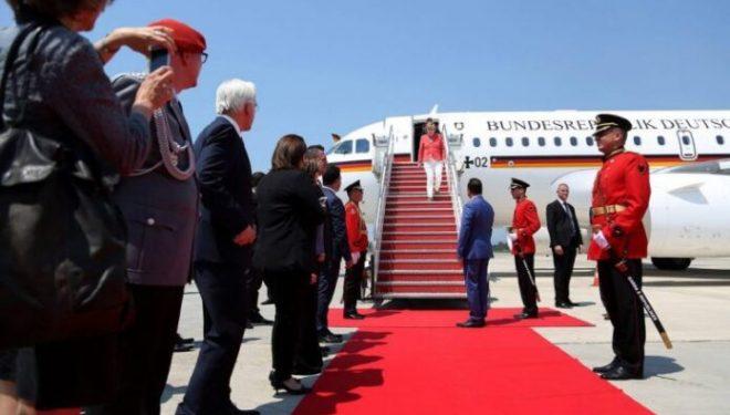 Kancelarja, Angela Merkel mbërrin në Shqipëri